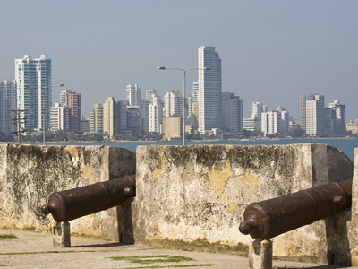 Cartagena city wall in Colombia