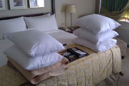 Man Jokingly Asks Hotel For Pillow Fort During Booking